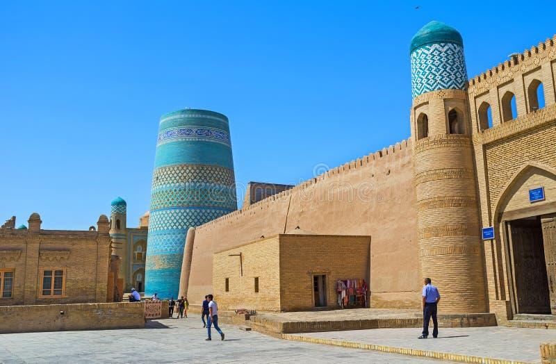 La carta di visita di Khiva fotografia stock
