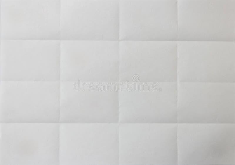 La carta ha piegato in 16 cellule Fondo immagine stock libera da diritti