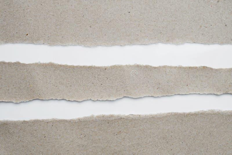 La carta lacerata, ricicla la carta con spazio per testo per fondo immagine stock
