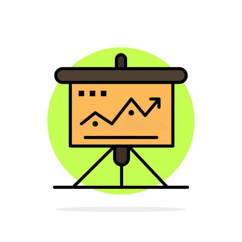 La carta, negocio, desafío, márketing, solución, éxito, táctica resume el icono plano del color de fondo del círculo ilustración del vector