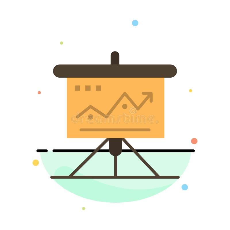 La carta, negocio, desafío, márketing, solución, éxito, táctica resume la plantilla plana del icono del color ilustración del vector