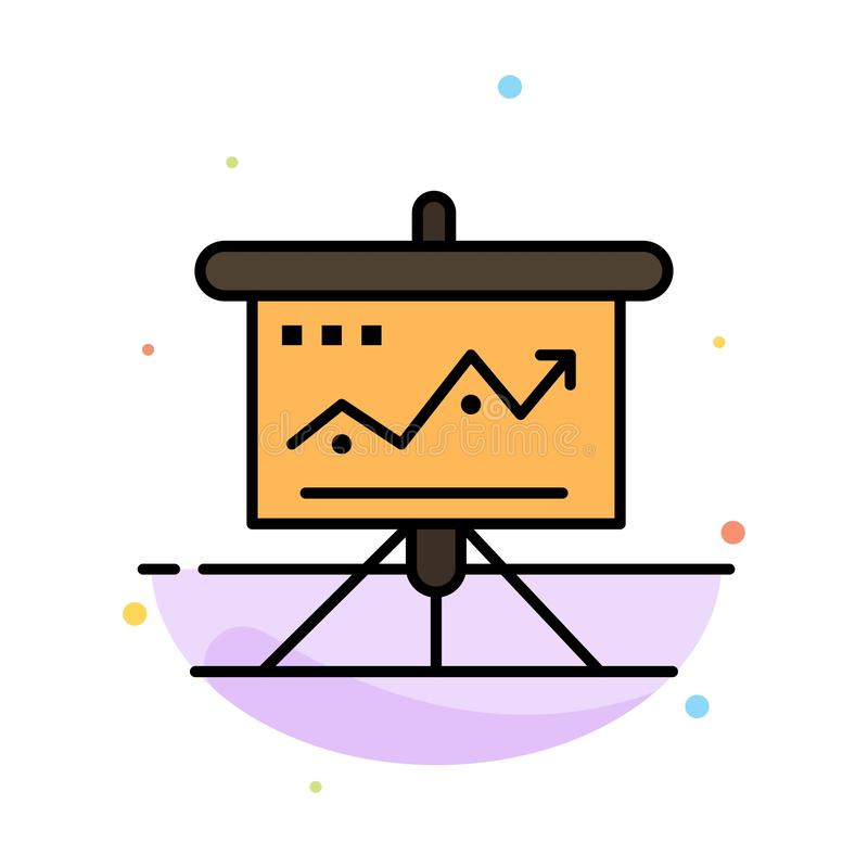 La carta, negocio, desafío, márketing, solución, éxito, táctica resume la plantilla plana del icono del color stock de ilustración