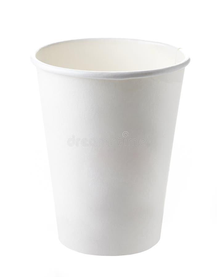La carta porta via la tazza di caffè fotografie stock