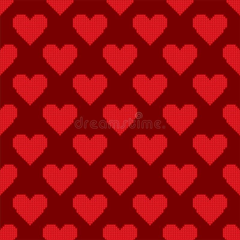 La carta senza cuciture di colore di rosa del fondo del modello di vettore tagliente rosso semplice del cuore bella celebra l'emo royalty illustrazione gratis
