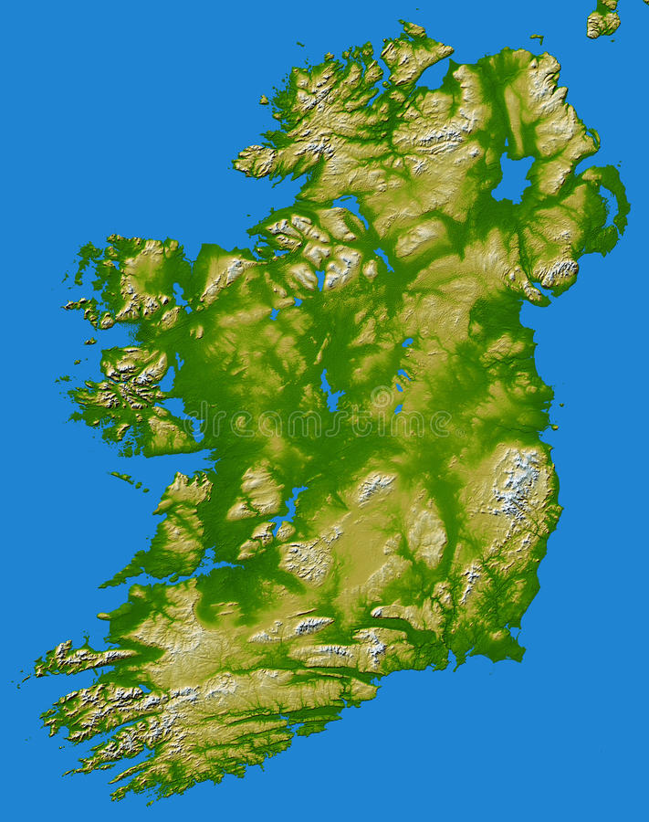 La carte BRITANNIQUE de l'Irlande comme vu de l'espace image stock