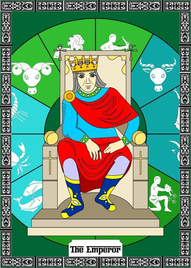 La carte d'empereur illustration de vecteur