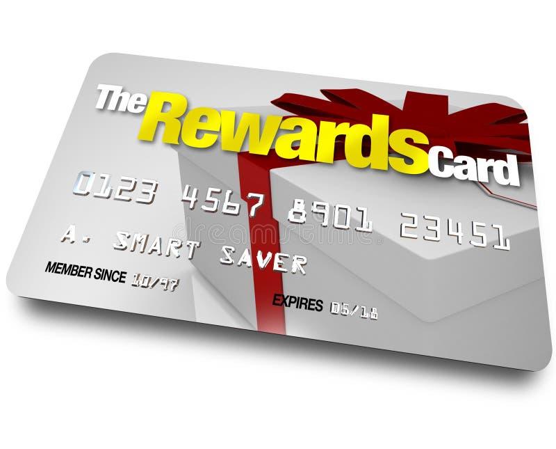 La carte de crédit de récompenses gagnent des remboursements et des remises illustration libre de droits