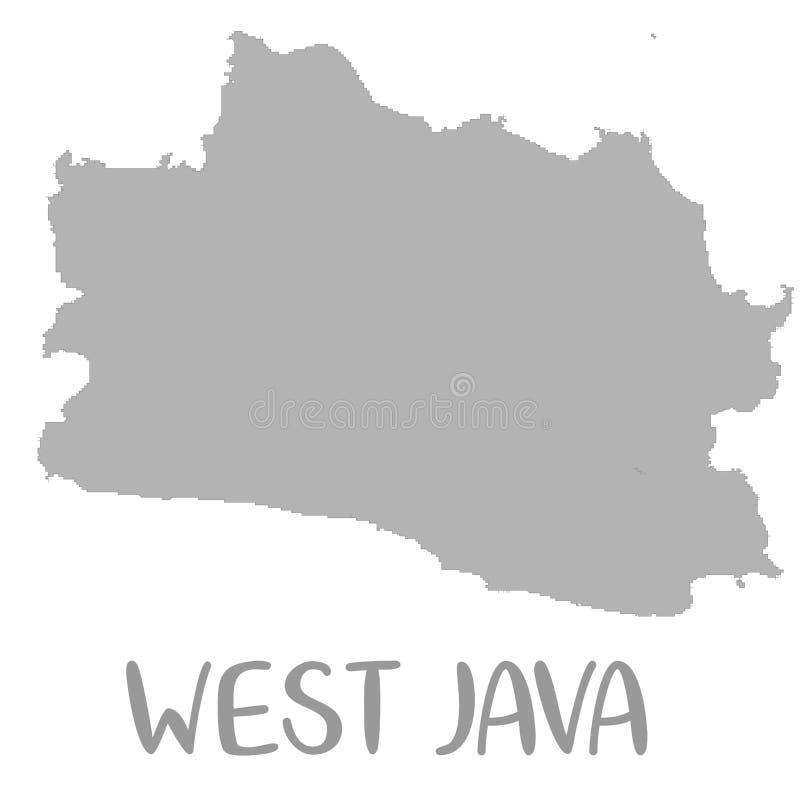 La carte de haute qualité de Java occidental est une province de l'Indonésie illustration libre de droits