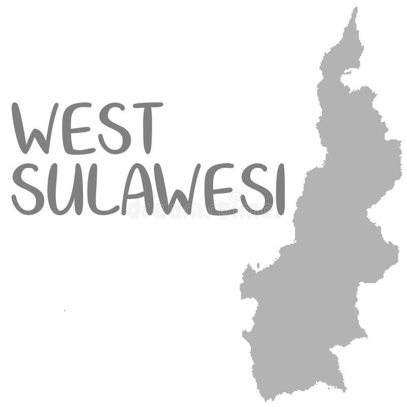 La carte de haute qualité de Sulawesi occidental est une province de l'Indonésie illustration libre de droits