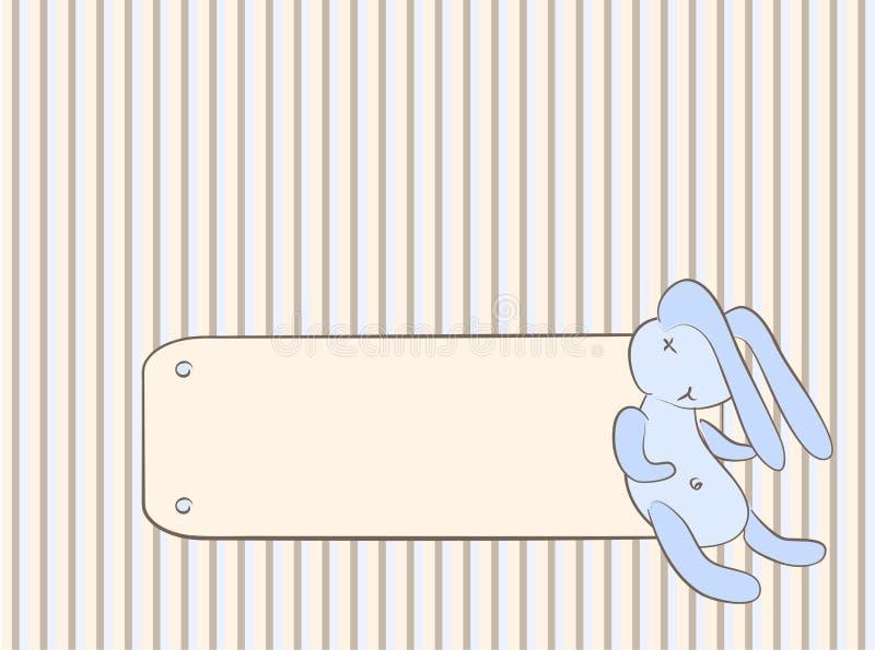 La carte de la chéri avec le lapin illustration libre de droits