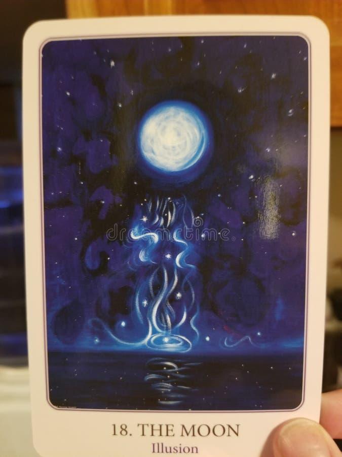 La carte de tarot de lune illustration de vecteur