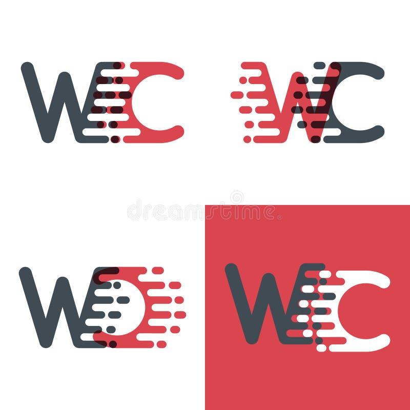 La carte de travail marque avec des lettres le logo avec le rose de vitesse d'accent et gris-foncé illustration stock