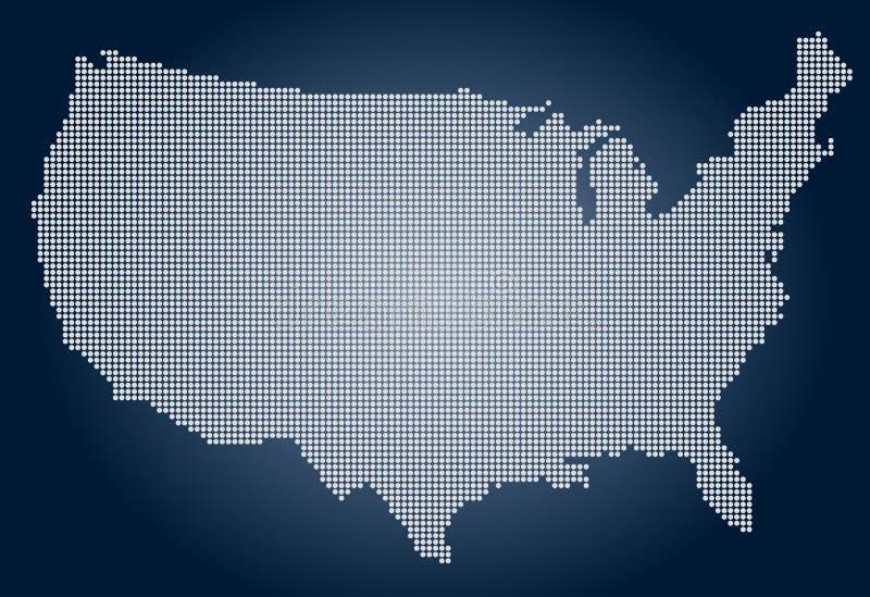 La carte des Etats-Unis d'Amérique - pixel illustration de vecteur