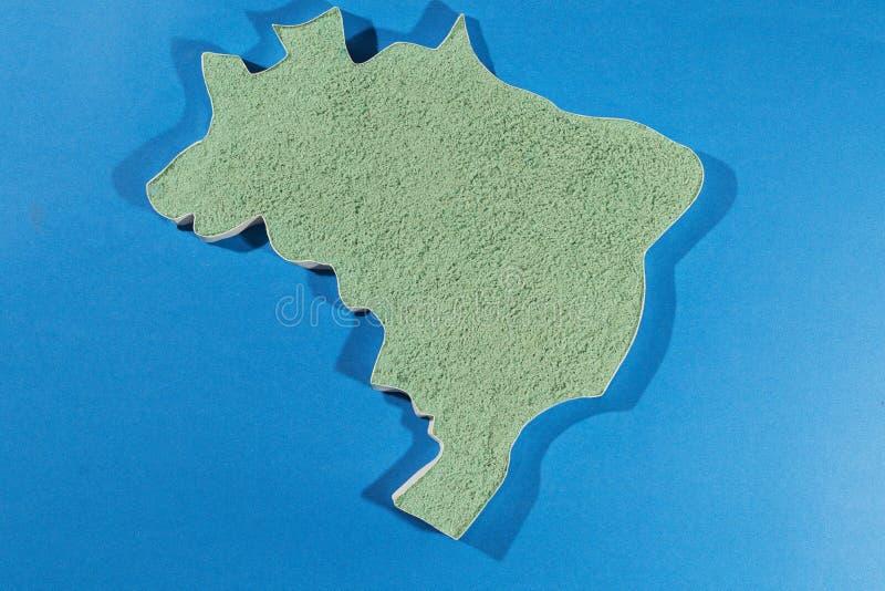La carte du Brésil illustration de vecteur