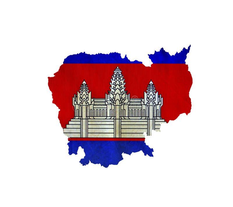 La carte du Cambodge a isolé image stock