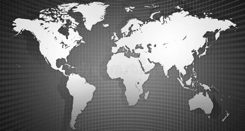 La carte du monde photographie stock libre de droits