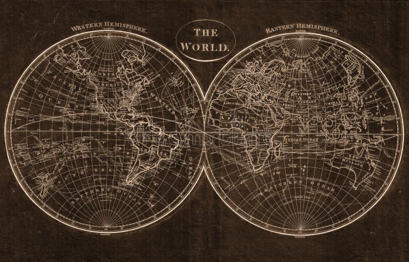 La carte du monde illustration de vecteur