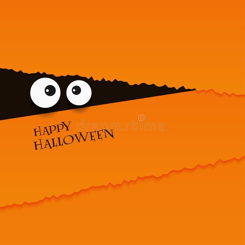La carte heureuse de Halloween observe le fond d'illustration de vecteur illustration de vecteur