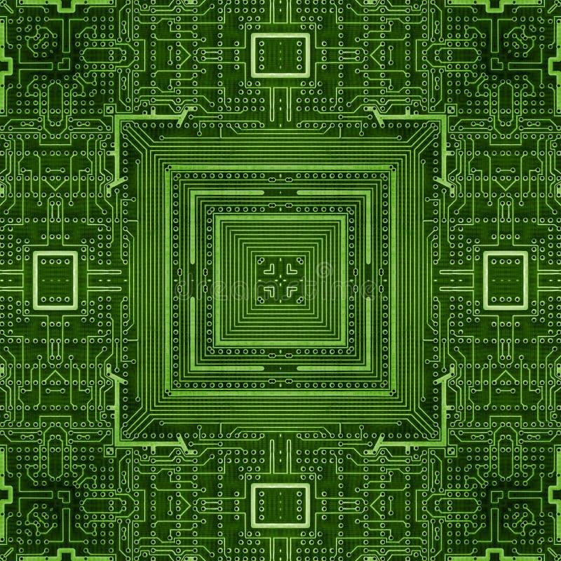 La carte PCB électronique le modèle de carte mosaïque de carte mère illustration libre de droits