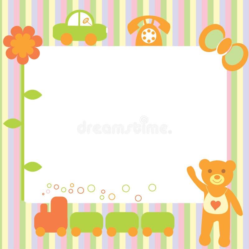 La carte postale de fête. illustration stock
