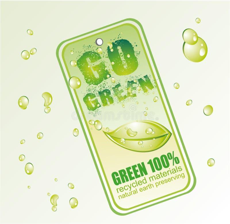 la carte vont vert illustration de vecteur