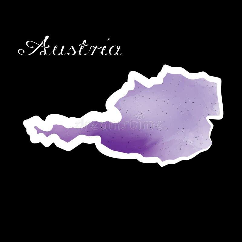 La carte W de l'Autriche illustration libre de droits