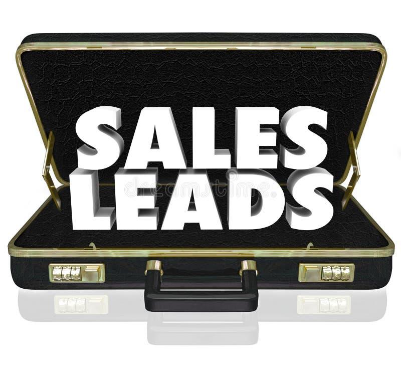 La cartera de las ventajas de las ventas redacta nueva oportunidad de las perspectivas de los clientes ilustración del vector
