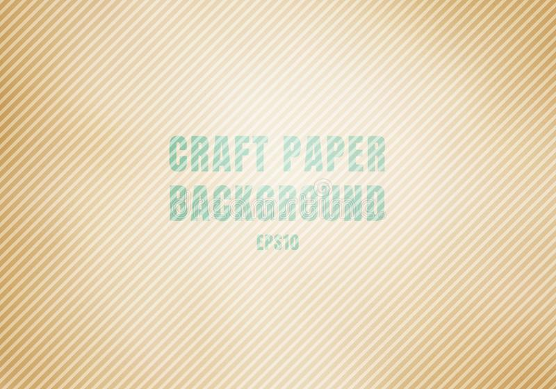 La cartulina acanalada marrón de papel del arte manchó el fondo de la textura La plantilla Kraft realista recicló ilustración del vector