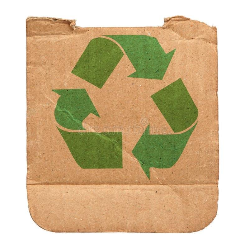 La cartulina con recicla símbolo fotos de archivo libres de regalías