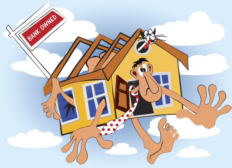 La casa è banca di proprietà per vendita illustrazione di stock