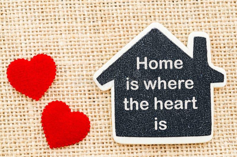 La casa è dove il cuore è fotografia stock libera da diritti