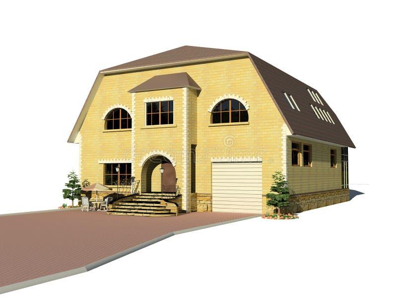 La casa ilustración del vector