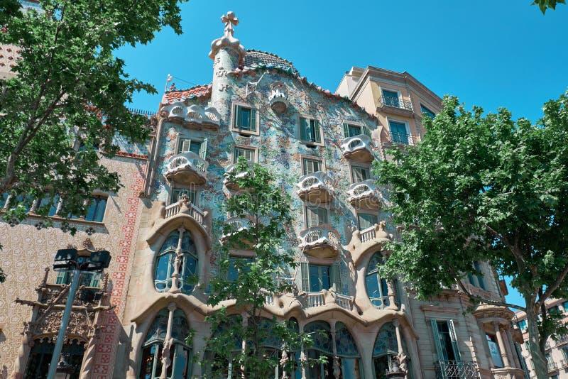 La casa Batllo es un edificio renombrado situado en el centro de Barcelona fotografía de archivo libre de regalías