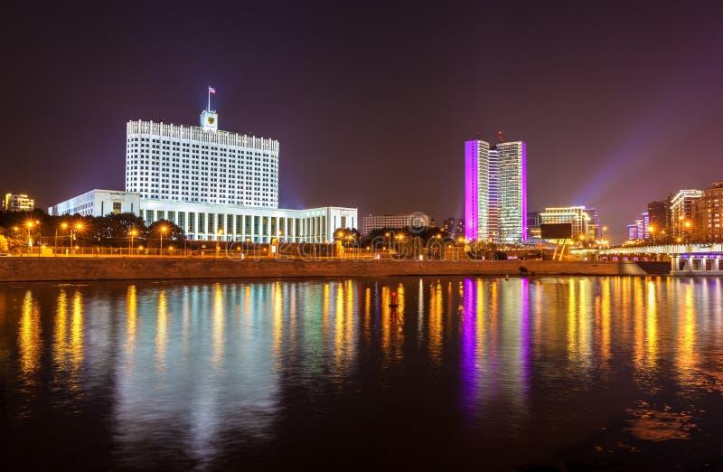 La Casa Bianca, la Camera del governo della Federazione Russa a Mosca fotografie stock