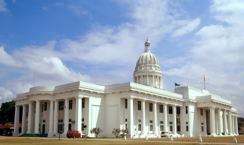 La casa blanca en Colombo imágenes de archivo libres de regalías
