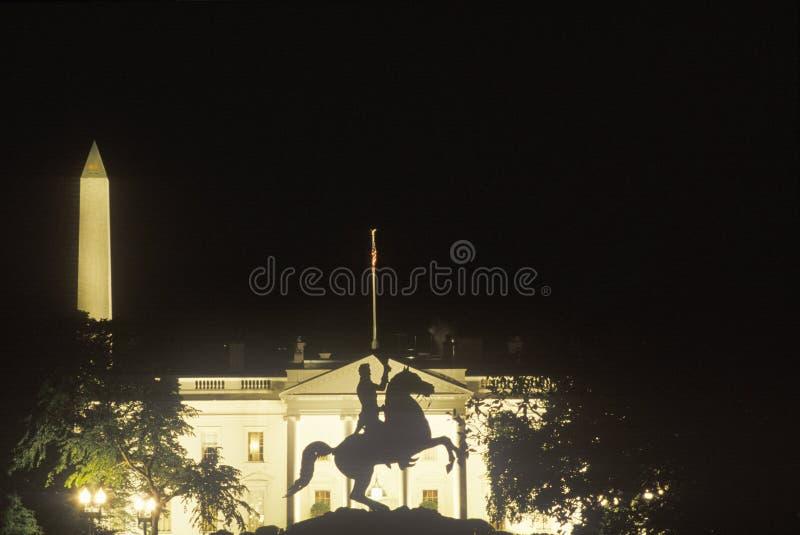La Casa Blanca en la noche, Washington, D C fotografía de archivo libre de regalías