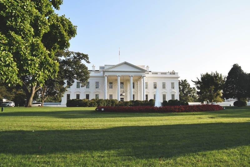 La Casa Blanca y la yarda de la fronda, Washington D C, LOS E.E.U.U. fotos de archivo libres de regalías