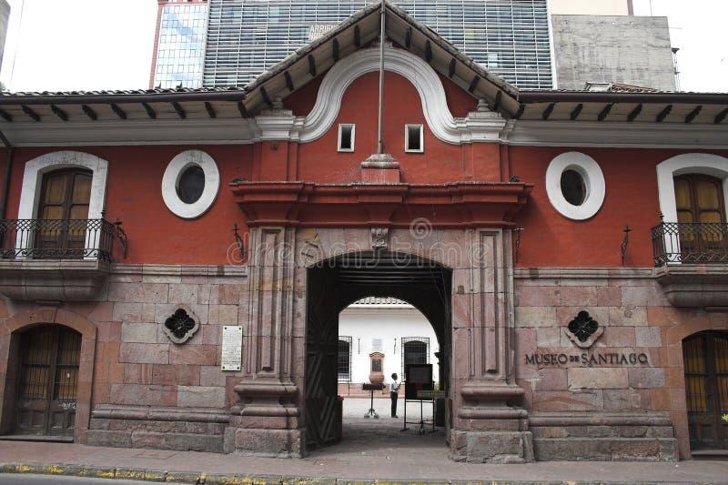 La Casa Colorada Santiago doet Chili stock afbeeldingen