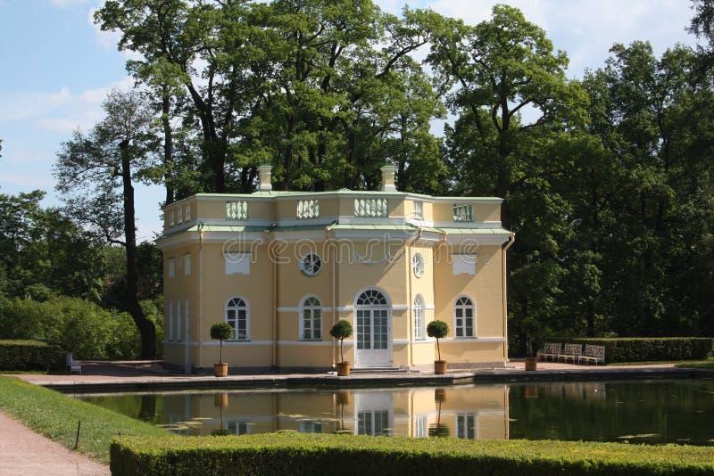 La casa de baños superior en Tsarskoye Selo imagenes de archivo