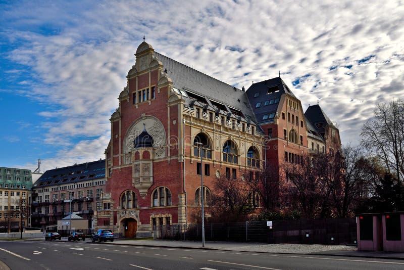 La casa de industria del libro alemana anterior en Leipzig imagen de archivo
