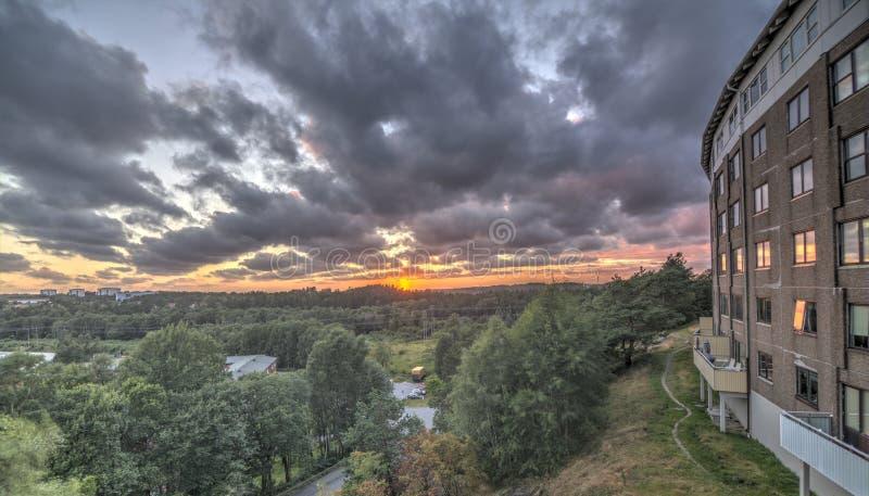 La casa de la puesta del sol fotos de archivo