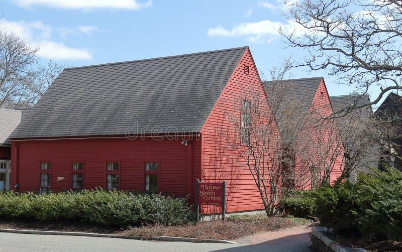 La casa de los siete aguilones en Salem fotografía de archivo libre de regalías