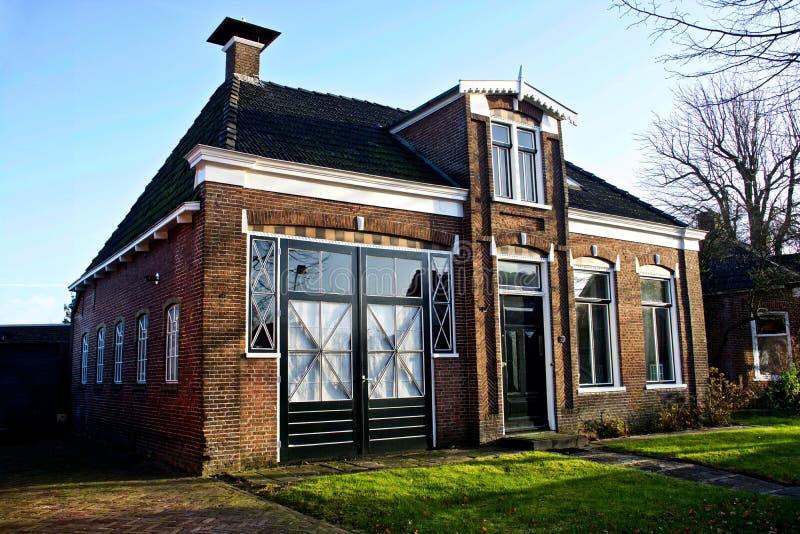 La casa de mi abuelo en Garijp Frisia imagen de archivo libre de regalías