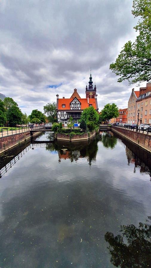 La casa de Miller en la ciudad vieja de Gdansk, Polonia imágenes de archivo libres de regalías