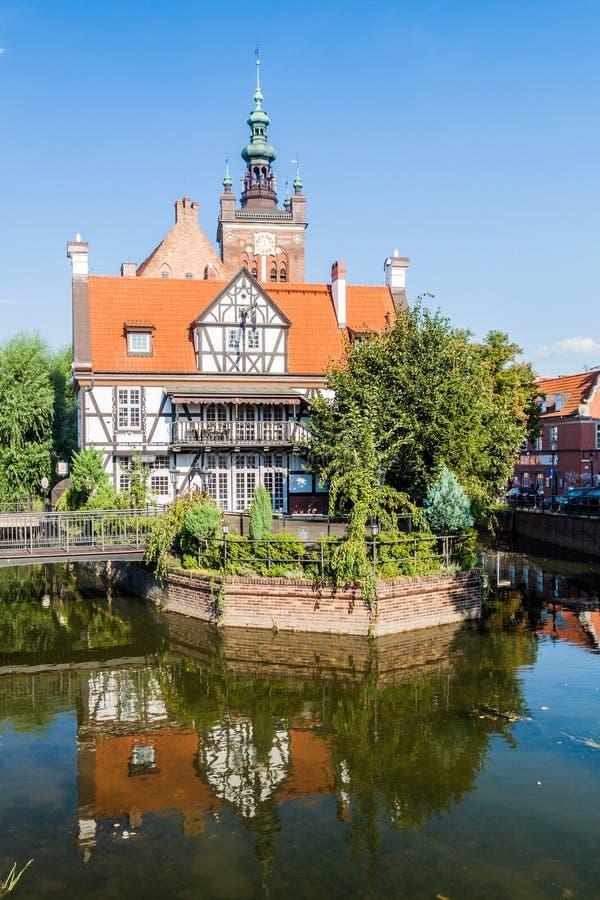 La casa de Miller en el canal de Raduni en Gdansk, Pola imágenes de archivo libres de regalías