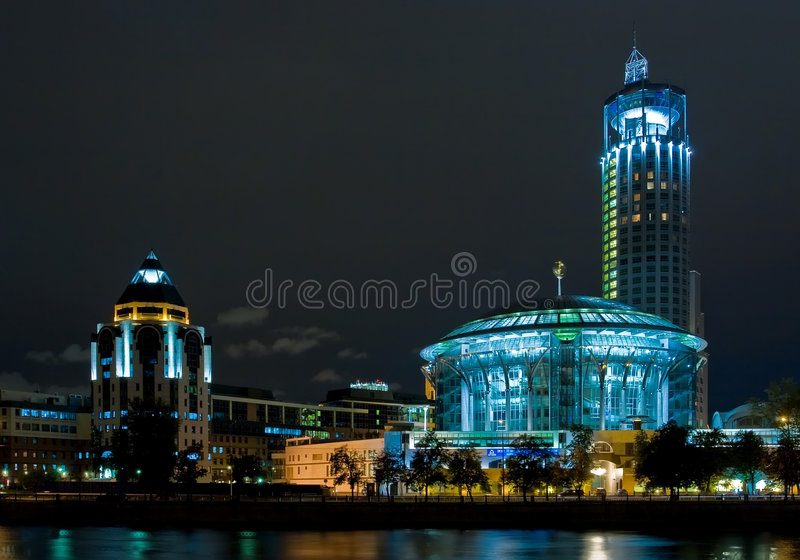 La casa de Moscú de la música foto de archivo libre de regalías