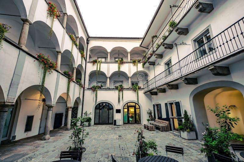 La casa de Mozart en Linz, Austria fotografía de archivo libre de regalías