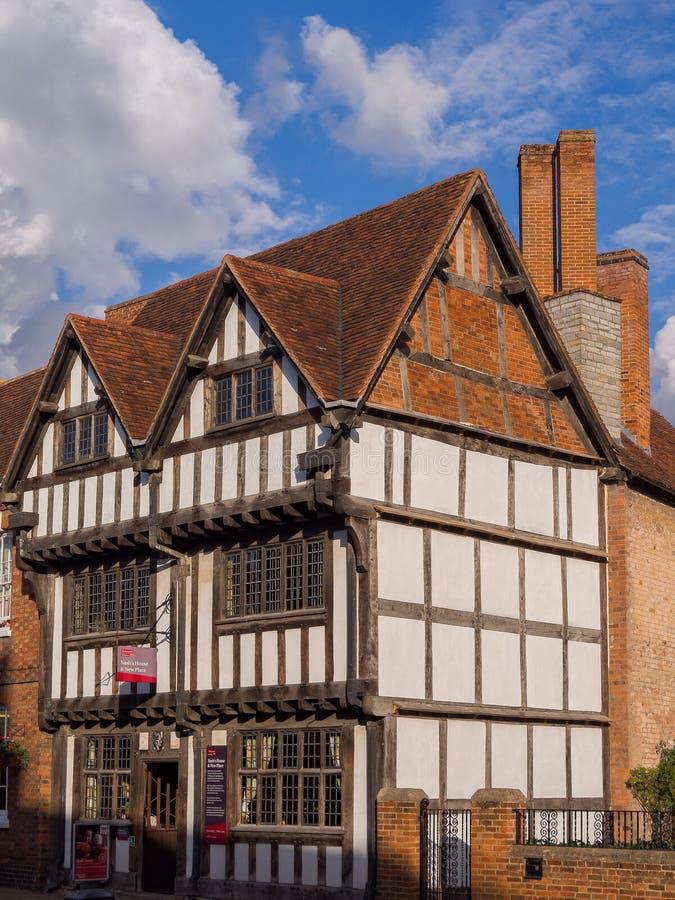 La casa de Nash en Stratford en Avon, Inglaterra imágenes de archivo libres de regalías
