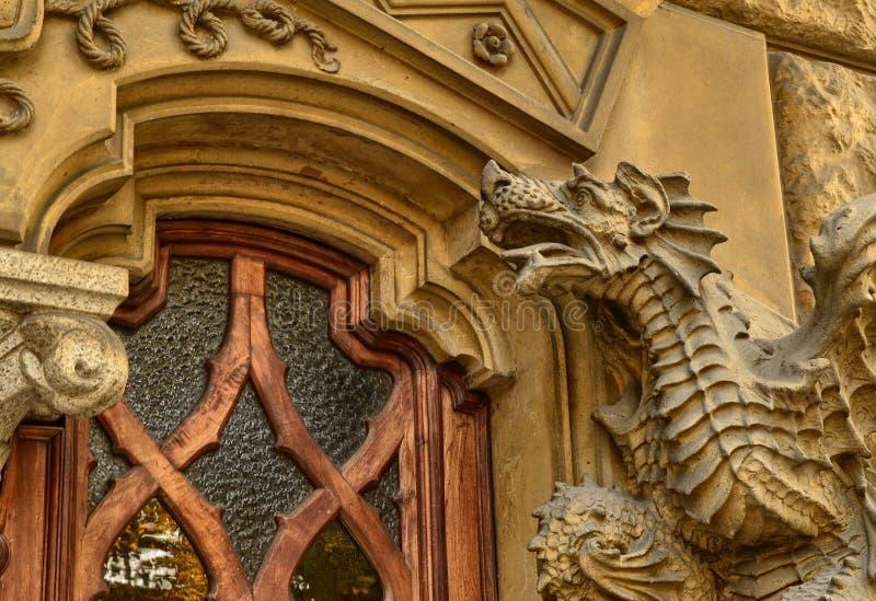 La casa de la victoria o casa de dragones fotografía de archivo