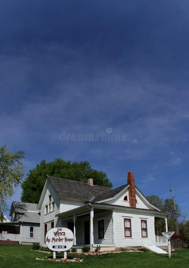 La casa del asesinato del hacha en Villlisca, Iowa imagen de archivo